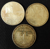 Lot de trei monede argint Germania - 10 Euro 2002 (2) si 2005