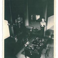 4027 - SALONTA, Bihor, Janos ARANY room - old postcard, real PHOTO - used - 1940, Circulata, Fotografie