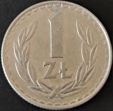 Moneda 1 ZLOT - POLONIA, anul 1984 *cod 666, Europa, Aluminiu