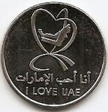 Emiratele Arabe Unite 1 Dirham 2010 - Khalifa (I Love UAE) KM-109 UNC !!!