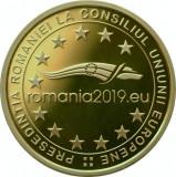 Romania 50 bani 2019 - Președinției Consiliului Uniunii Europene, PROOF