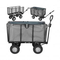Cumpara ieftin Carucior rabatabil pentru gradina, sarcina 600 kg, maner reglabil, husa 250 l