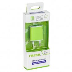 Incarcator retea M-Life ML0592 USB 1A Verde