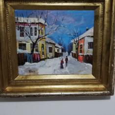 """""""Strada iarna"""", tablou realizat de artistul consacrat Nicolae Blei"""