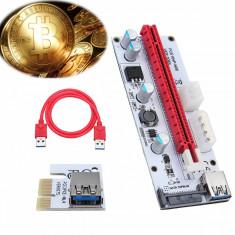 Riser PCIe extensie 1x la 16x V008s mining etherum zcash bitcoin