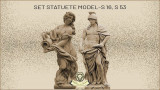 Set statuete soldat si domnita din beton model S16,S53.