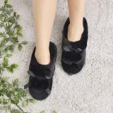 Papuci De Casa De Dama Ciucure Negri 41 EU Negru