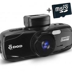 "Camera auto DVR DOD LS460W, Full HD, GPS, senzor imagine Sony, lentile Sharp, WDR, G senzor, 2.7"" LCD, 12MP + Card 32GB Cadou"