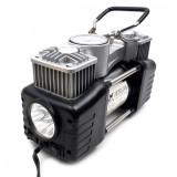 Set compresor auto cu doi cilindri, si manometru, 12V (bricheta) - Camion, SUV 4x4, 85l/min, ET762