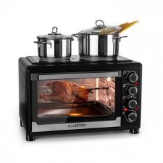 Klarstein Masterchef, mini cuptor, temporizator de 60 de minute, 38 litri, cu plăci infraroșu pentru gătit, negru