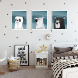 Cumpara ieftin Set 3 tablouri decorative Animale, Heinner