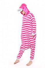 PJM35-552 Pijama kigurumi, tip salopeta cu model Cheshire Cat foto