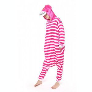 PJM35-552 Pijama kigurumi, tip salopeta cu model Cheshire Cat