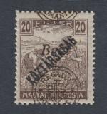 ROMANIA 1919 - EMISIUNEA CLUJ ORADEA  -  EROARE SUPRATIPAR DEPLASAT MNH