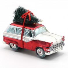 Ornament pentru bradul de Craciun masina rosie