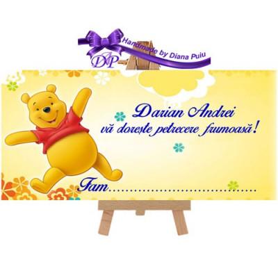 Plic de bani pentru botez Winnie the Pooh Handmade by Diana Puiu PBBW 5 foto