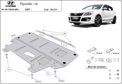 Scut motor metalic Hyundai i30 2007-2011 foto