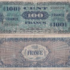 1944, 100 francs (P-123c) - Franța