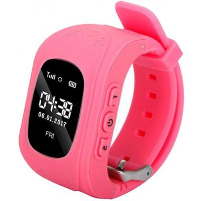 Ceas Smartwatch copii GPS Tracker iUni Q50, Telefon incorporat, Apel SOS, Roz foto