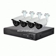 Sistem Supraveghere DVR 4 Camere AHD 1200L CCTV Exterior Infrarosu D1
