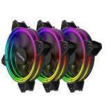 Ventilator pentru carcasa Floston Halo RGB PWM Three Fan Pack