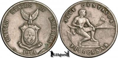1944 S 5 Centavos - Filipine foto