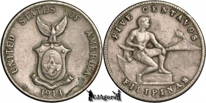 1944 S 5 Centavos - Filipine