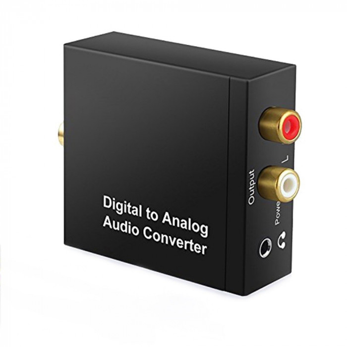 Adaptor, Convertor Digital Toslink la Analog jack 3,5mm, RCA