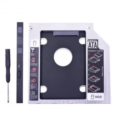 Adaptor HDD/SSD caddy rack suport pt unitate optica laptop 9.5mm SATA 3