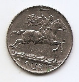 Albania 1 Lek 1926 - Alexander the Great, Nickel, 26.7 mm KM-5, Europa