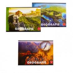 Set 3 bucati Caiet geografie Pigna