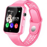 Ceas GPS Copii iUni Kid98, Telefon incorporat, Touchscreen 1.54 inch, Bluetooth, Notificari, Camera, Roz