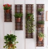 Pergola din lemn masiv pentru perete, 35 x 160 cm, rezistenta la apa