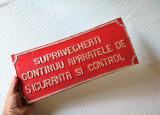 Tabla veche de avertizare, tabla industriala protectia muncii din Epoca de aur