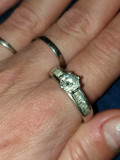 inel argint 925 antic model desebit inel de logodnă cu zirconiu !