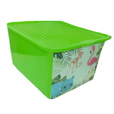 Cutie pentru depozitarea jucariilor BranQ C-Box BCBV, Verde