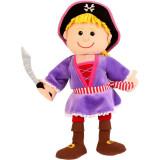 Marioneta de mana Fata Pirat Fiesta Crafts, 28 x 28 cm, 3 ani+, Multicolor