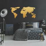 Decoratiune pentru perete, Ocean, metal 100 procente, 121 x 56 cm, 874OCN1013, Auriu