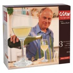 Set pahare pentru vin alb 3 buc 220cc PREMIUM MN011227 CRISTAR