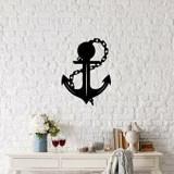 Cumpara ieftin Decoratiune pentru perete, Ocean, metal 100 procente, 42 x 58 cm, 874OCN1007, Negru