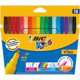 Carioci BIC lavabile Visa, 18 buc/set