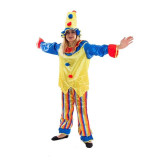 Costum Clown carnaval, model unisex, marime M, 3 piese, multicolor