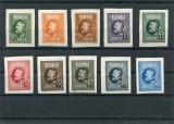 1926, ROMANIA ,   ANIVERSAREA REGELUI FERDINAND 60 ANI - NEDANT. , URME SARNIERA, Nestampilat