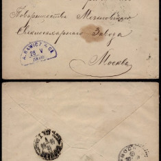 Russia 1895 Postal History Rare Postal Stationery Cover Moscow DB.080