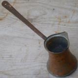 IBRIC VECHI PENTRU CAFEA - CAP 100 ML - FACUT MANUAL DIN CUPRU