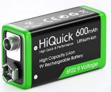 Acumulator 9V Li-Ion, 600 mAh - Hiquick