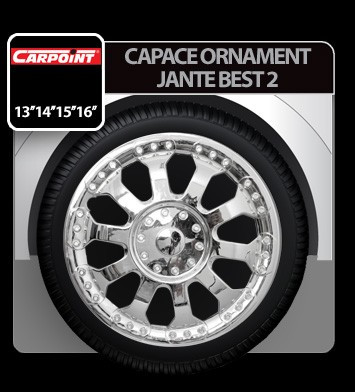 Capace ornament jante Best 2 4buc - Crom - 13' - CRD-CAR2210153 Auto Lux Edition