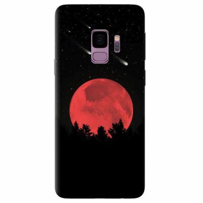 Husa silicon pentru Samsung S9, Blood Moon foto