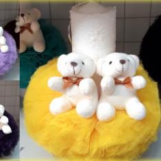 Lumanare de botez pentru fetite si baieti cu ursuleti, diverse culori - LMNSK5