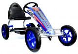 Go Kart cu pedale si roti gonflabile F8-1, albastru